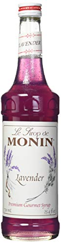 Monin - Lavender Syrup, Aromatic and Floral, Natural Flavors, Great for Cocktails, Lemonades, and Sodas, Vegan, Non-GMO, Gluten-Free (750 ()