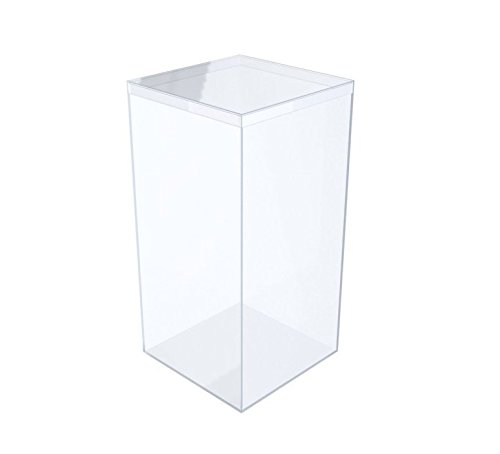 Clear Rigid Plastic Box (4''L X 4''W X 8''H) - 25 Pieces Per Pack by Gary Plastic Packaging