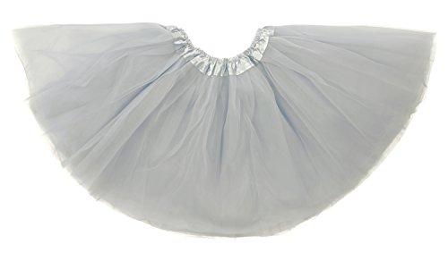 Dancina Tutu Tweens 5k 10k Fun Dash Run Classic Vintage 3 Layer Puffy Tulle Skirt 8-13 Years Grey by Dancina
