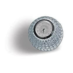 Georgia Tech Yellow Jackets Crystal Golf Ball Clock - Silver