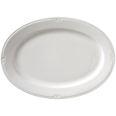Vertex China KF 94 Kentfield Oval Platter 14 Bone White Pack Of 12
