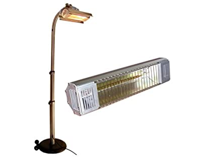 mojave sun electric infrared patio heater with telescopic pole - Infrared Patio Heater