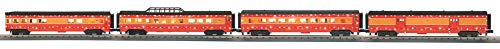 MTH 30-68040 Southern Pacific 4-Car 60' Streamlined Passenger Set w/LED Lights