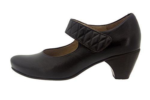 Calzado mujer confort de piel Piesanto 7404 zapato mercedes casual cómodo ancho Caoba