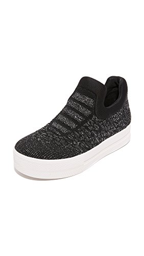 Ash Women's Jaguar Slip On Sneakers, Black/Piombo/Black, 40 EU (9.5 B(M) US Women)
