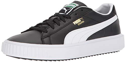 PUMA Men's Breaker Sneaker Black White, 8 M ()