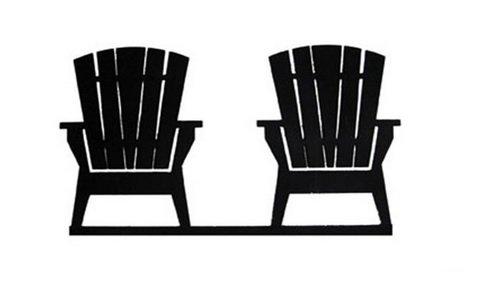 Adirondack Chairs Mailbox (MB-119 Adirondack Chairs Mail Box Topper)