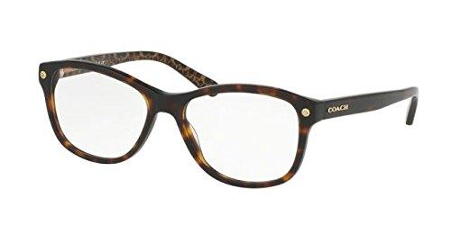Coach Women's HC6095 Eyeglasses Dark Tort/Dark Tort Gold Sig C - New Eyeglass Coach Frames