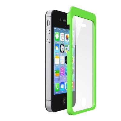 belkin ez frame iris anti glare film with easy install frame for iphone 5