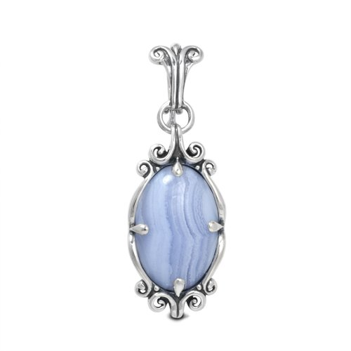 Carolyn Pollack Sterling Silver Blue Lace Agate Pendant Enhancer by Carolyn Pollack (Image #4)