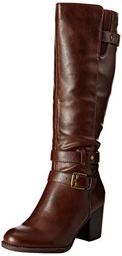 Knee Natural High (Natural Soul Women's Taliah Mid Calf Boot, Brown, 6 M US)