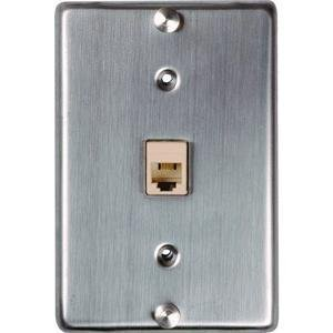 SOUTHWESTERN BELL S60617 6-Conductor Stainless-Steel Wall - Case Faceplate Phone Cover Metal