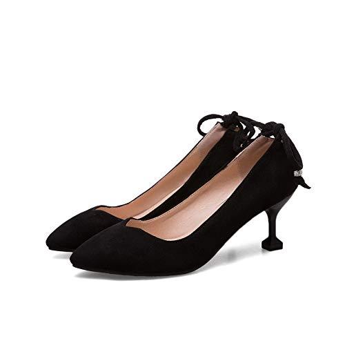 Femme Compensées Sandales AdeeSu SDC05753 Noir tPq4w7f
