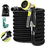Alma Expandable Garden Hose 50ft - Strongest Expandable Water Hose - Extra Strong Brass Connectors Flexible Expanding Retractable Garden Hose Best for Outdoor Watering New 2019 (black)