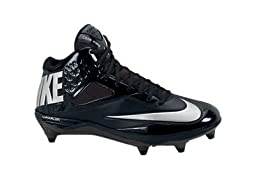Nike Men\'s Lunar Code Pro 3/4 D Football Cleats-Black/Metallic Silver/Antrct-11.5