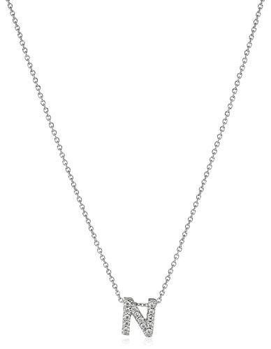Roberto Coin Tiny Treasures Love Letter 18k White Gold Diamond Block Letter Pendant Necklace