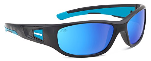 Officially Licensed NFL Sunglasses, Carolina Panthers, 3D Logo on Temple - 100% UVA, UVB & UVC - Glasses Panther