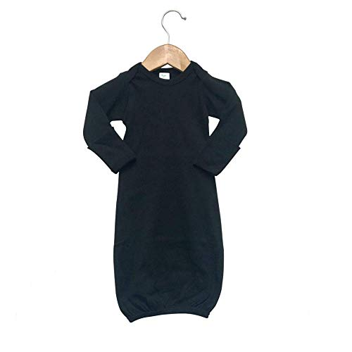 Laughing Giraffe Baby Long Sleeve Sleeper Gown with Mitten Cuffs 03M Black