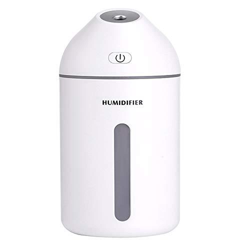 Baiher Portable Car Air Humidifier,Mini Travel Cool Mist Diffuser,11oz(White)
