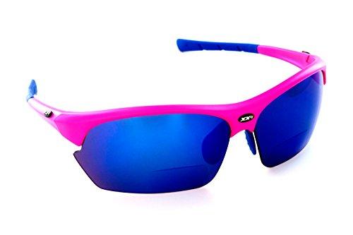 XX2i Optics Men's FRANCE2 Reader Sunglasses Grey Tinted Lens Hyper Pink - Sunglasses Xx2i