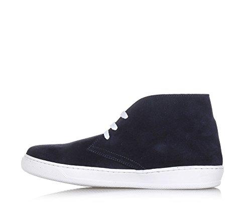 CARLO PIGNATELLI - Chaussure à lacets bleue, en suède, made in Italy, garçon