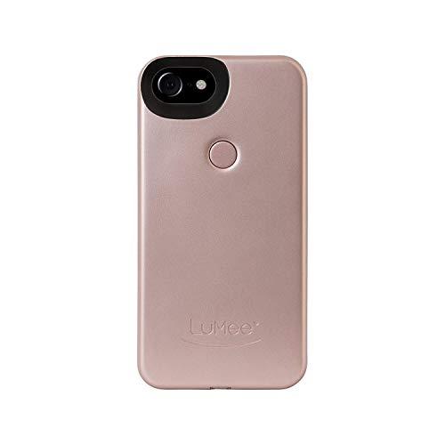 LuMee Two Selfie Phone Case, Rose Matte   LED Lighting, Variable Dimmer   Shock Absorption, Bumper Case   iPhone 8 / iPhone 7 / iPhone 6s / iPhone 6 (Iphone 7 Plus Vs S8 Plus Camera)