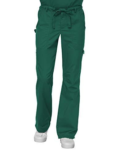 KOI Men's and Tall James Elastic Scrub Pants with Zip Fly and Drawstring Waist, Hunter