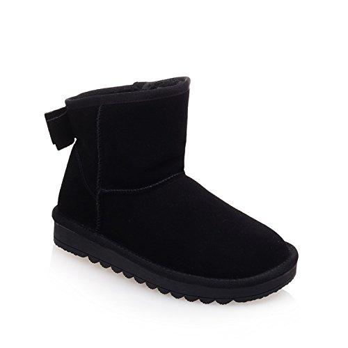 Minivog Thick-sole Antideslizante Para Mujer Casual Snow Botas Negro