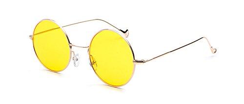 Foto Claro Para Sol En Gafas Sol Ronda Se Gafas Amarillo Color Frame Como Vintage Mujeres De Uv400 La De Muestra TIANLIANG04 Ronda CpqZ1xx
