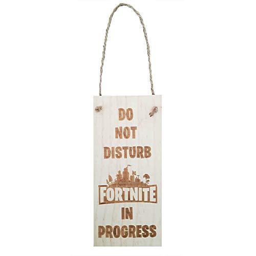 Fortnite Gift!!! DO NOT Disturb in Progress Veneer Quality Wooden Plaque Door Hanger Sign
