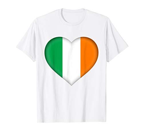 I Love Ireland T-Shirt | Irish Flag Heart Outfit