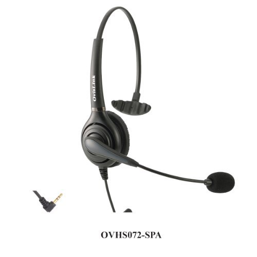 Headset Compatible Phone - OvisLink Call Center Headset Compatible with Cisco SPA Series IP Phones