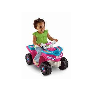 Fisher-Price-Power-Wheels-Barbie-Sporty-ATV-Style-Lil-Quad-For-Toddlers-W6215