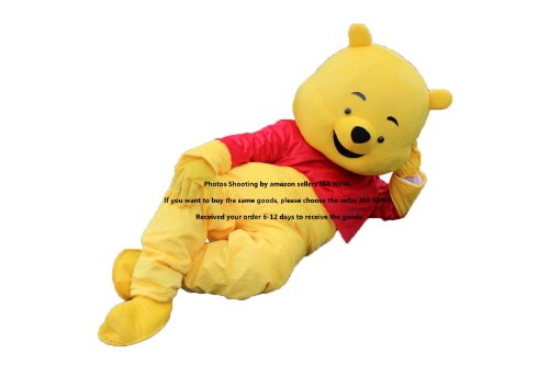 [Winnie the Pooh Bear Mascot Costume Fancy Dress EPE] (Commercial Characters Halloween Costumes)