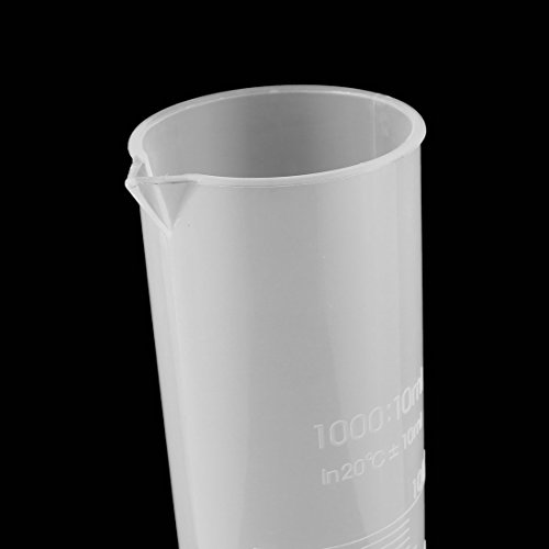 Uxcell a12071900ux0610 Lab Set 500mL Capacity Clear White Plastic Graduated Cylinder