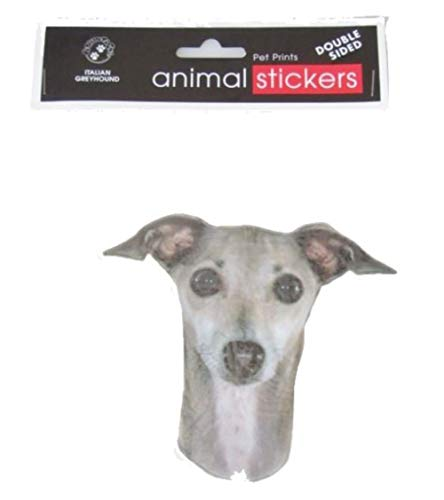 Dog Breeds Animal Stickers Double Sided (Italian Greyhound) ()