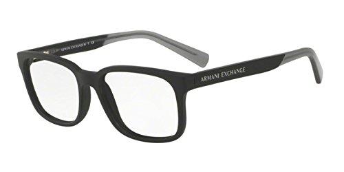 Armani Exchange AX3029 Eyeglass Frames 8182-54 - Matte Black AX3029-8182-54