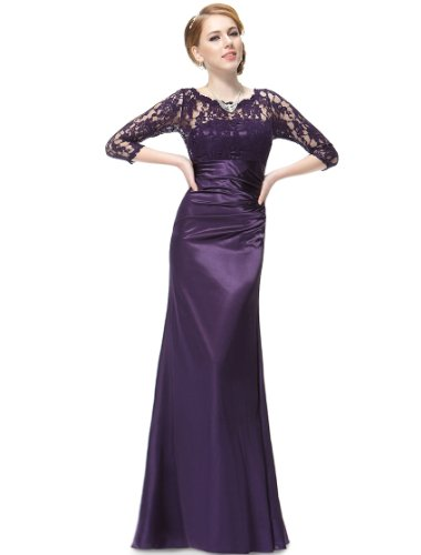 Ever Pretty Womens Formal Floor Length Wedding Guest Dress 12 US Purple