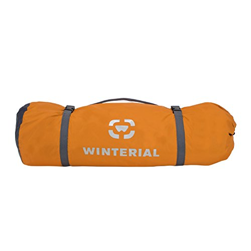 Winterial 3 Person Tent / Easy Setup Lightweight Camping and Backpacking 3 Season Tent / Compact