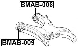 Arm Bushing For Bmw 33326770952 for the Rear Lower Control Arm