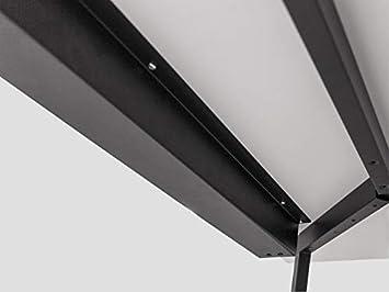 Kabelf/ührung f/ür den Schreibtisch wei/ß Modulor Kabelkanal 7 x 9 x 102,5 cm Kabelhalterung inklusive Schrauben