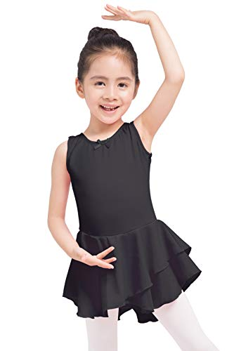 Dancina Ballet Dress Leotard Tank Top Full Front Lining 8 Black -