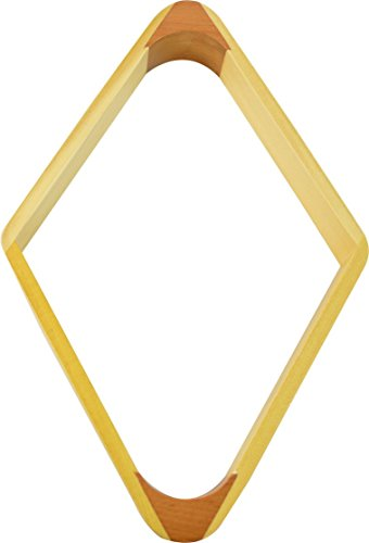 Wooden 9 Ball Diamond (Imperial Billiard/Pool 9-Ball Rack, 2-Tone Hardwood Diamond Fits 2-1/4