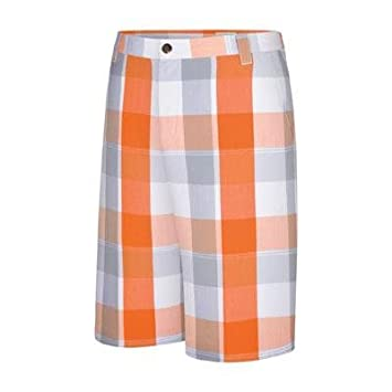Adidas Taylormade Youth Plaid Shorts