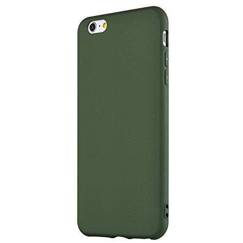 MANLENO iPhone 6s Plus Case,iPhone 6 Plus Case,Flexible Matte TPU Silicone Case for iPhone 6 Plus 6s Plus 5.5'' (Matte Green)