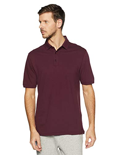 Under Armour Men's Solid Loose Fit Polo Active Shirt UA 1319027 (Dark Maroon, L)