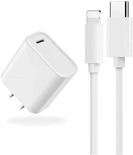 [Apple MFi Certified] iPhone Fast Charger, 20W PD Type C Power Wall Charger Plug with 3.3ft USB C to Lightning Fast Charging Data Sync Cable Compatible with iPhone 12/12 Pro/11/XS/XR/X/8/SE/iPad