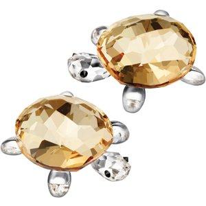 Swarovski Crystal Turtle (Swarovski Crystal Baby Tortoises Set/2 Gold)
