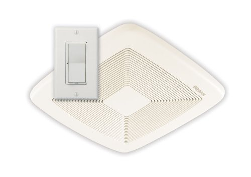 Broan SSQTXE080 Smart Sense Fan with Control, White Grille