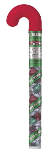 Hershey's Milk Chocolate Kisses Filled Cane, 3.5-Ounce (Pack of 6)